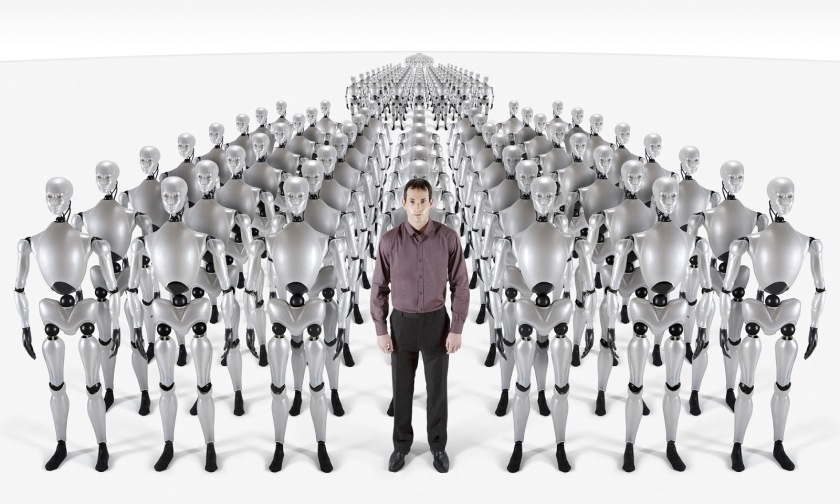 A man leading a clone parade