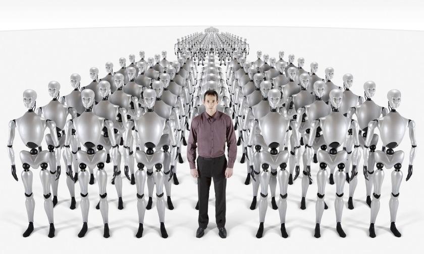 A man leading a clone parade